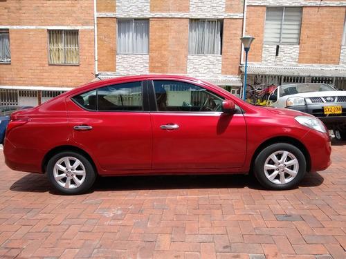 nissan versa advance 2014, automático, rojo perlado 1600 cc