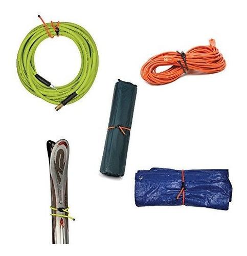 nite ize gear tie loopable twist tie 24 2 pack amarillo neon