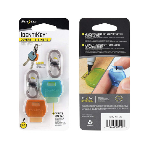 nite ize identikey covers + s -biner combo paquete - colorid