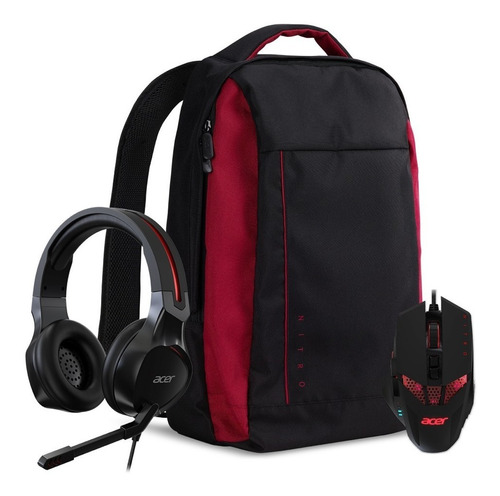 nitro 3-in-1 kit (backpack/mouse/headset)