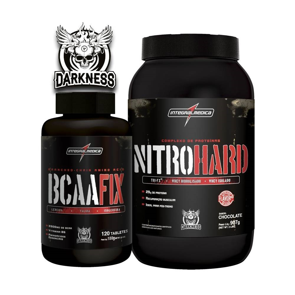 2da3cd70d Nitro Hard 907g (chocolate) + Bcaa Fix 120 Caps - R  155