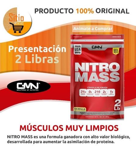 nitro mass x2 libras aminoácidos(bcaa´s masa muscular limpia