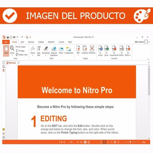 nitro pro v11 - el mejor editor de pdf