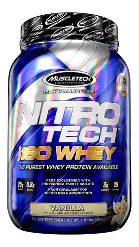 nitro-tech 100% iso whey 1.8 libras - muscletech