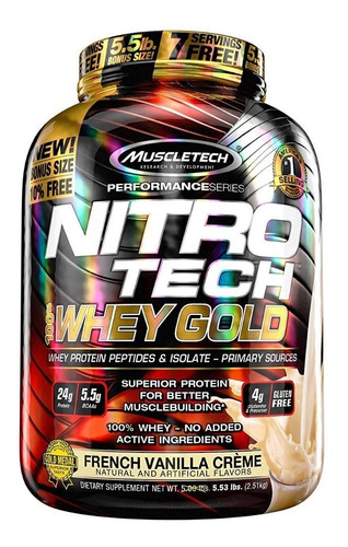 nitro-tech 100% whey gold 5.5 lb - muscletech