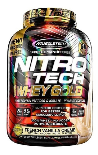 nitro tech 100% whey gold 5.5lb muscletech proteina calidad