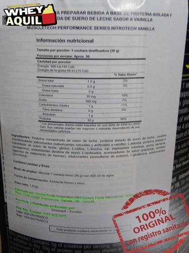 nitro tech nitrotech whey protein 4lb + gratis
