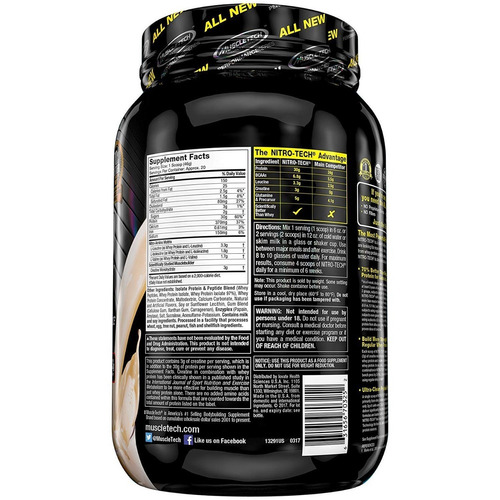 nitro-tech performance 2lb - muscletech + envío gratis