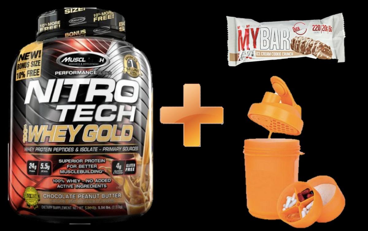 Nitro Tech Whey Gold 6 Lbs Gratis Barra Prot Shaker Reg San Us 84 Muscletech Nitrotech Lb Cargando Zoom