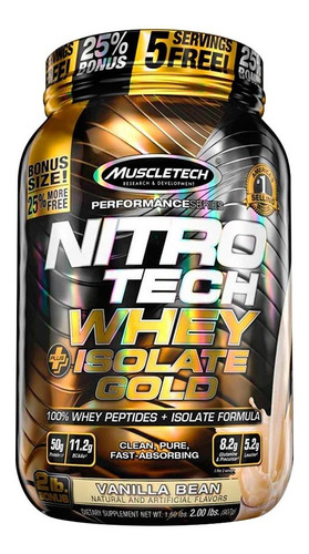 nitro tech whey gold isolate 2lb proteina muscletech
