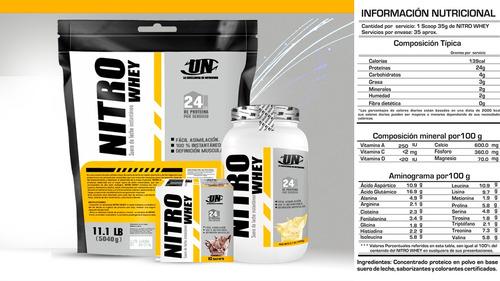 nitro whey de 5 kilos - constructor muscular