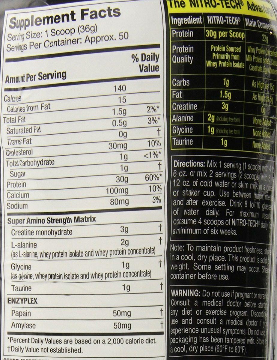 Nitrotech Pure Whey Proteina Isolate Strawberry Fresa 4 Lbs Cargando Zoom
