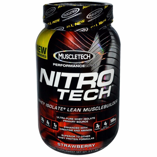nitrotech whey protein isolate 2lb 100%original eeuu