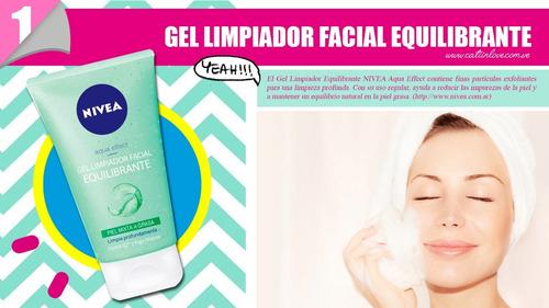 nivea gel limpiador facial equilibrante piel mixta a grasa