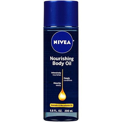 nivea nourishing body oil, 6.8 onzas líquidas