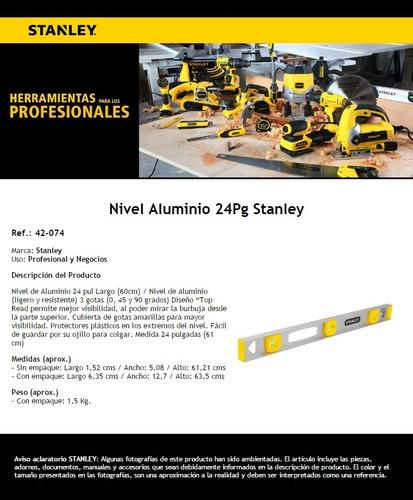 nivel 24 aluminio 42-074 stanley