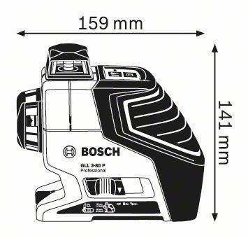 nivel 3 planos + tripode bs150 bosch gll 3-80 p