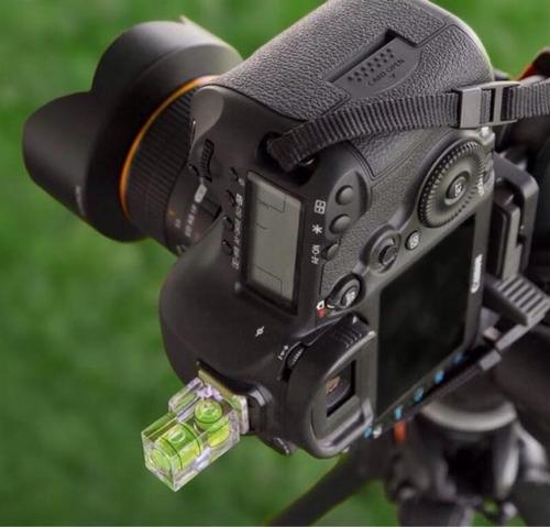 nivel burbuja para zapata de cámara canon nikon  dslr 3 ejes