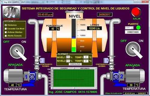 nivel de agua para tanque automatizado con seguridad remota