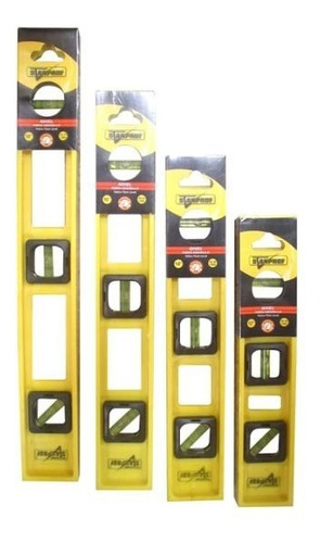 nivel fibra 14 amarillo stanprof ( caja x 50)