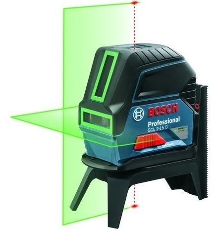 nível laser 2 linhas 15 metros verde gcl 2-15 g + suporte