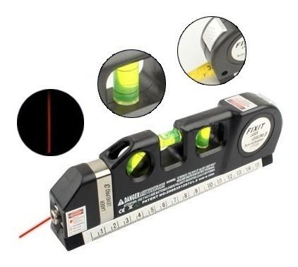 nivel laser 3 burbujas horiz vert cruz cinta métrica regla