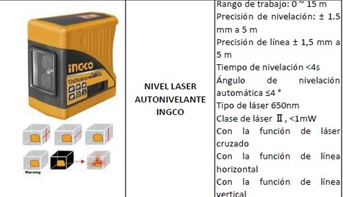 nivel laser autonivelante ingco