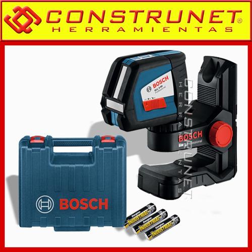 nivel laser  bosch autonivelante gll250 + l boxx soporte bm3