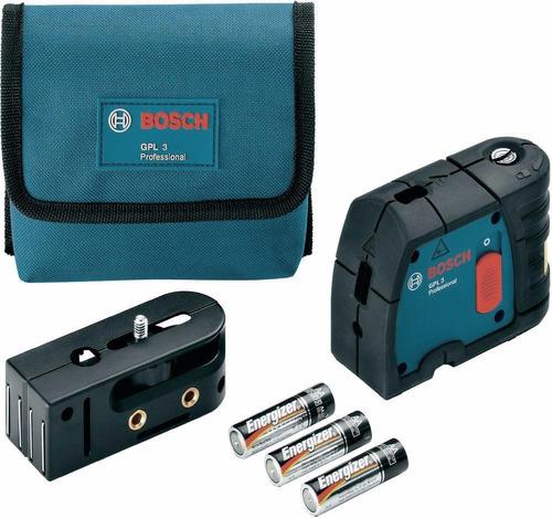 nivel laser bosch gpl3 3 puntos auto alineamiento 30 mts