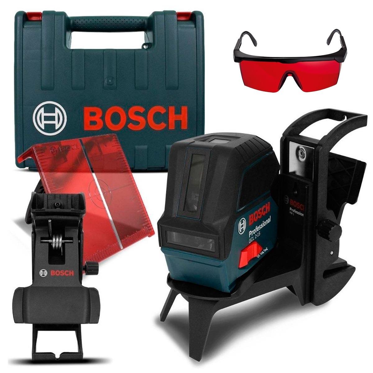 Nível Laser De Linhas Gcl 2-15 Maleta Suporte E Óculos Bosch - R ... 77b47fbd41