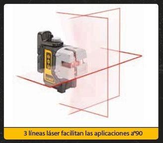 nivel laser dewalt autonivelante 30mt cruz y vertical dw089k