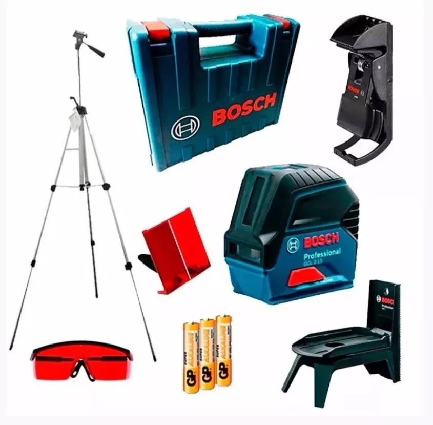 31d64484a8196 Nivel Laser Esquadro Prumo 2x1 Gcl 2-15 Bosch+tripé E Óculos - R ...