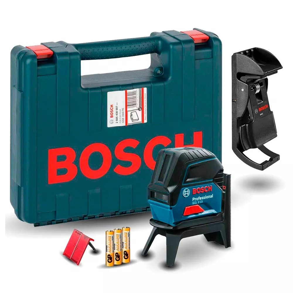 Nivel Laser Esquadro Prumo Gcl 2-15 Bosch C  Maleta + Óculos - R ... db26018d8c