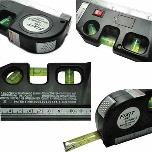 nivel laser horizontal, vertical e cruz prumo fixit level pr