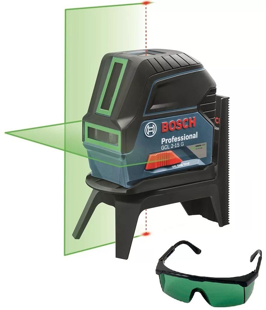 Nível Laser Verde Gcl 2-15 G 15 Metros Bosch + Óculos Verde - R  799,00 em  Mercado Livre faf4fb502a