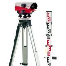 nivel optico leica na728 de 28 aumentos con tripode y regla!