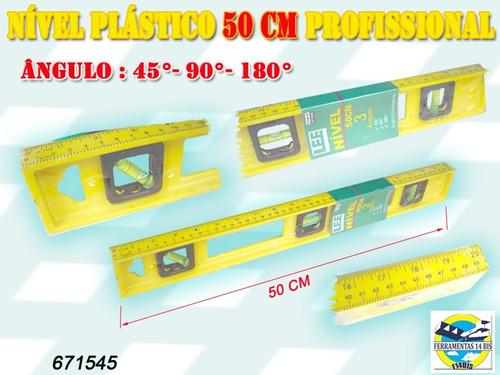 nível plástico 50 cm - profissional / industrial