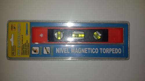 nivel tipo torpedo magnetico 9  con 3 gotas nuevos