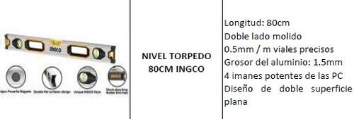 nivel torpedo 80cm ingco