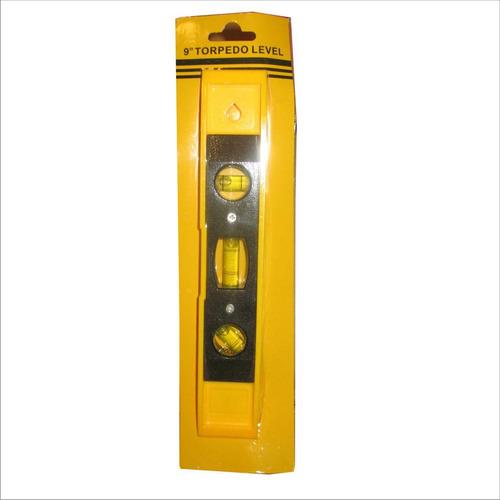 nivel torpedo plastico 9` amarillo stanprof (ue=100)