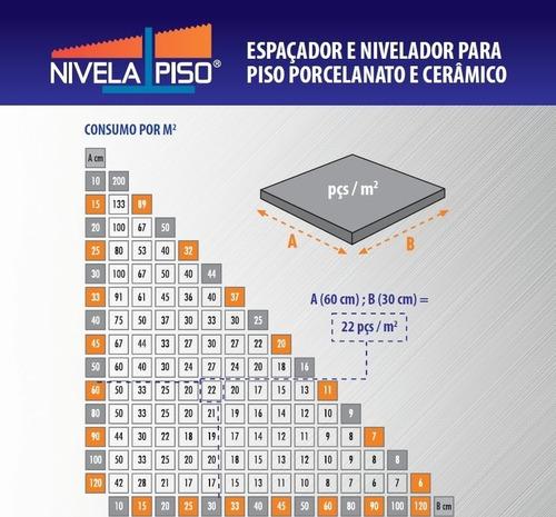 nivelador de piso porc.2500 clips1mm + 250 cunhas