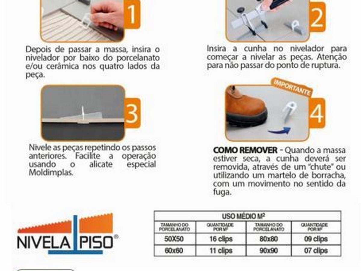 nivelador de piso porcelanato 1000 clips 1mm r 115 00