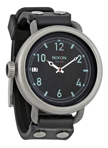 nixon a488 october 48.5mm strap watch men's