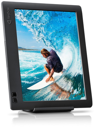 nixplay edge 8-inch wi-fi cloud digital photo frame con pant