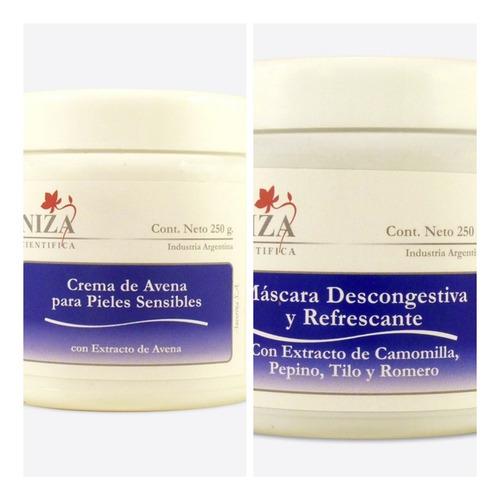 niza cosmetica piel sensible crema avena x 500 + masca descg