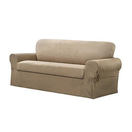 njj conrad 2-piece sofá muebles cubierta/slipcover, arena