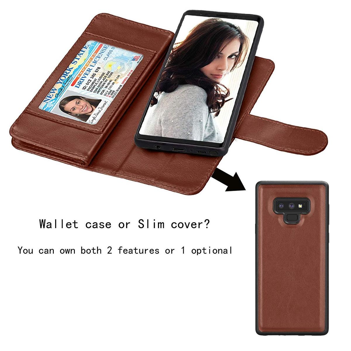 7eeda27b8d7a Njjex For Galaxy Note 9 Wallet Funda, For Note 9 Funda, Luxu
