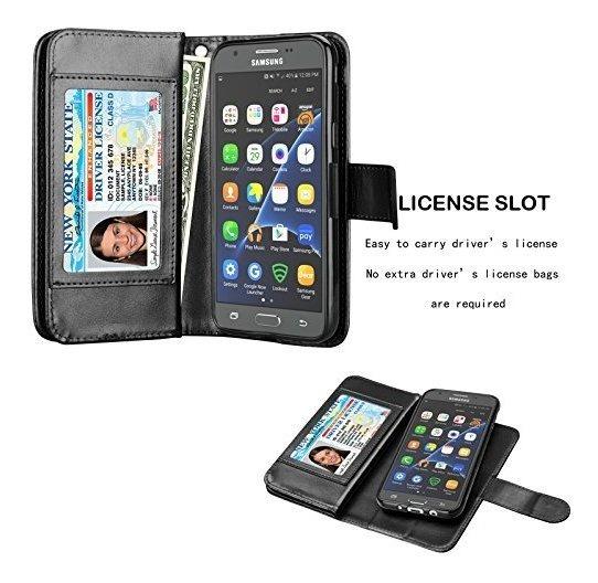 low priced 64992 d6246 Njjex Galaxy J3 Emerge Wallet Case, Para Amp Prime 2 J3 Luna