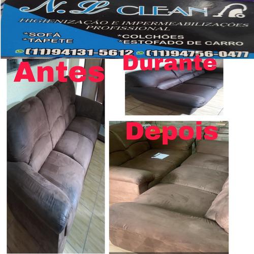 n.l clean higienização e impermeabilização profissional