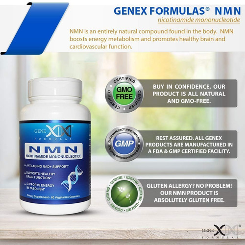 nmn nicotinamide mononucleotide 250mg - 3 frascos